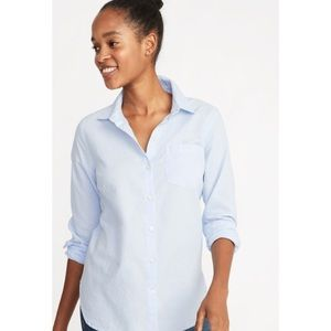 Old Navy The Perfect Shirt Light Blue Button Down